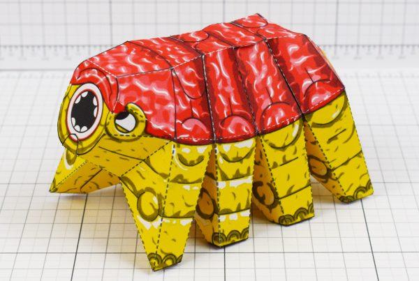 PTI - Squishy Brain Beast Monster Alien Paper Toy Image - Main