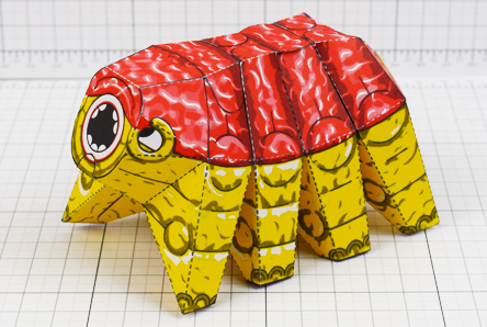 THU - Squishy Brain Beast Monster Alien Paper Toy Image - Thumbnail