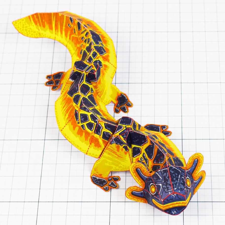 PTI - Lava Lizard Monster Dragon Paper Toy Craft Mondel - Fold Up Toys 2020 - Square