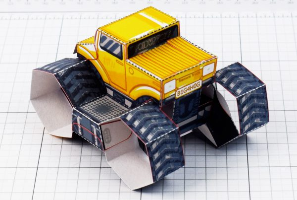 PTI - Tremor Truck Paper Toy Image - Back