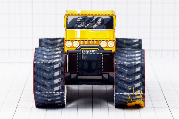 PTI - Tremor Truck Paper Toy Image - Front
