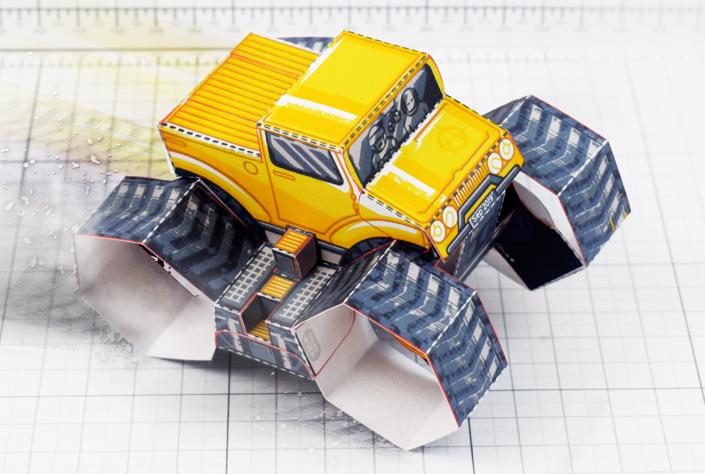 PTI - Tremor Truck Paper Toy Image - Main