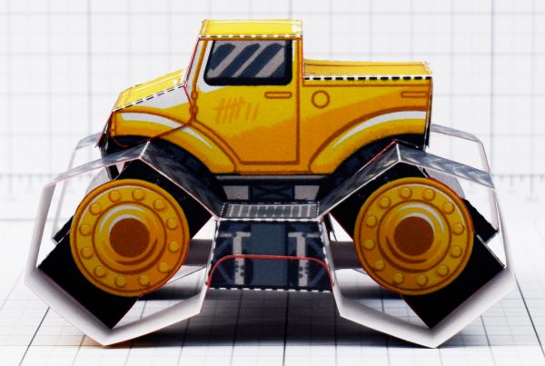 PTI - Tremor Truck Paper Toy Image - Side