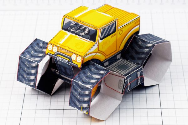 PTI - Tremor Truck Paper Toy Image - Top