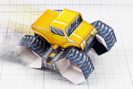THU - Tremor Truck Paper Toy Image - Thumbnail