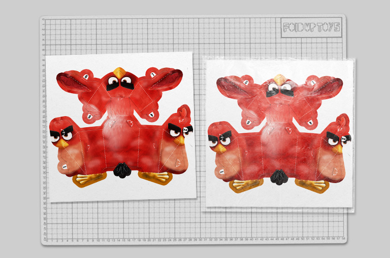 MU - Angry Brid Movie Paper Toy Promotional Kids Meal - Mock Up