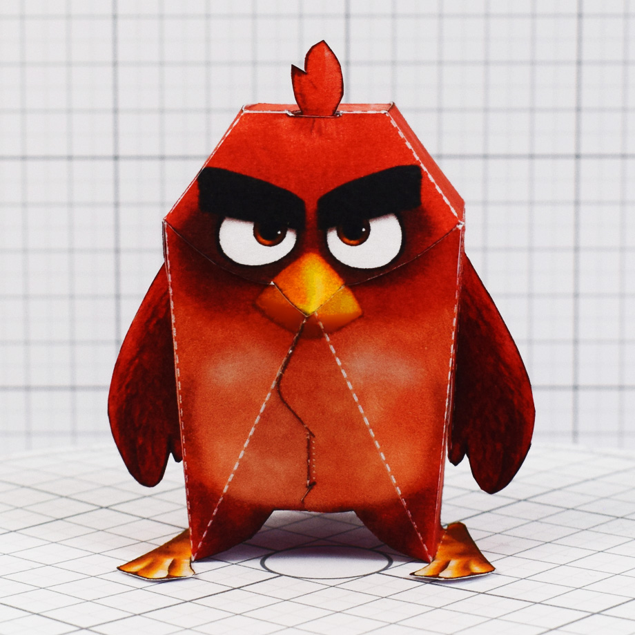 PTI - Angry Brid Movie Paper Toy Promotional Kids Meal - Square