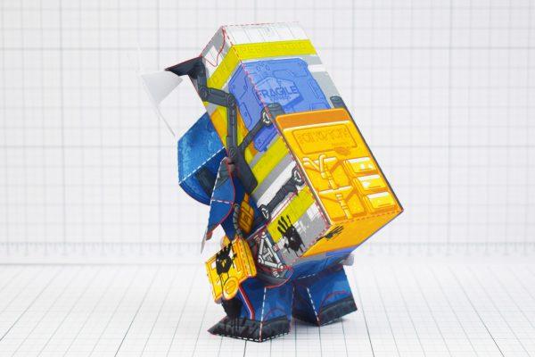 PTI - Death Stranding Fan Art Sam paper craft toy model - Back