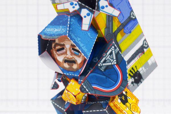 PTI - Death Stranding Fan Art Sam paper craft toy model - Zoom