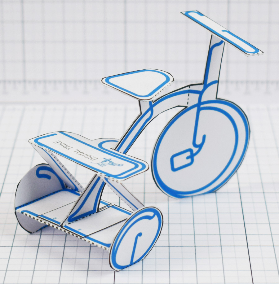 PTI - Digital Trike Promotional Toy - Square