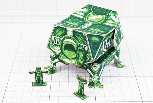 PTI- Fold Up Toy Delivery Dudes Robot Paper Toy - Back