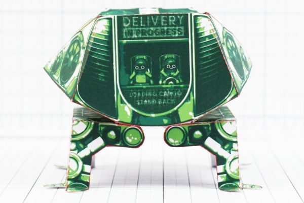 PTI- Fold Up Toy Delivery Dudes Robot Paper Toy - Front