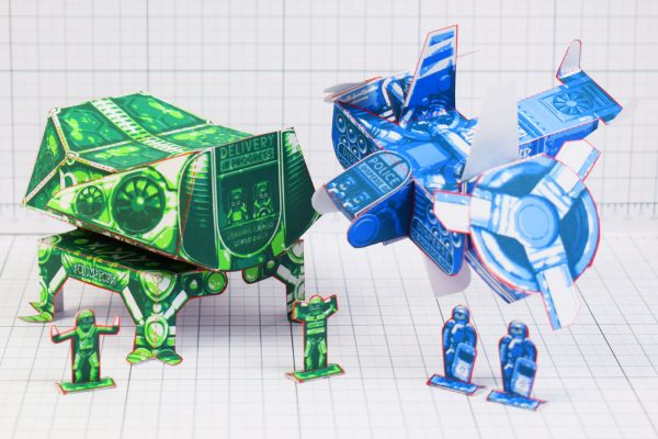 PTI- Fold Up Toy Future Nonsense Paper Toy - Group