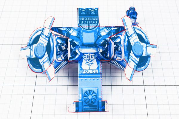 PTI - Paper Toy Future Police - Fold Up Toys - Above