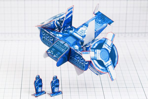 PTI - Paper Toy Future Police - Fold Up Toys - Main