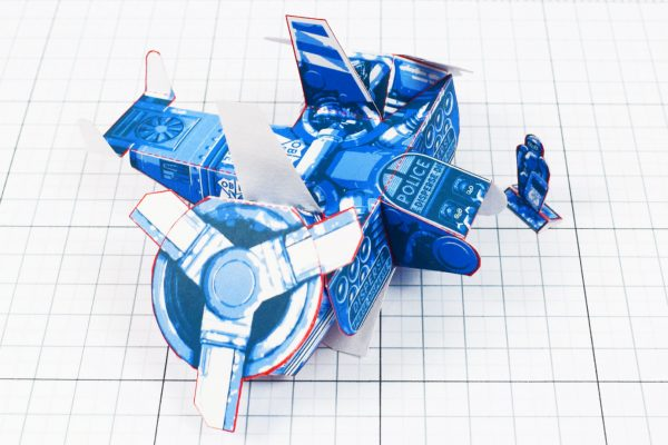 PTI - Paper Toy Future Police - Fold Up Toys - Side