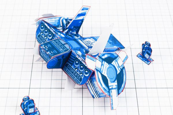 PTI - Paper Toy Future Police - Fold Up Toys - Top