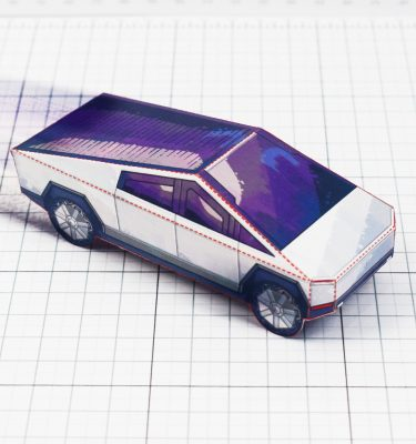 PTI- Tesla Cybertruck - Fold Up Toy - Paper Toy Image Square