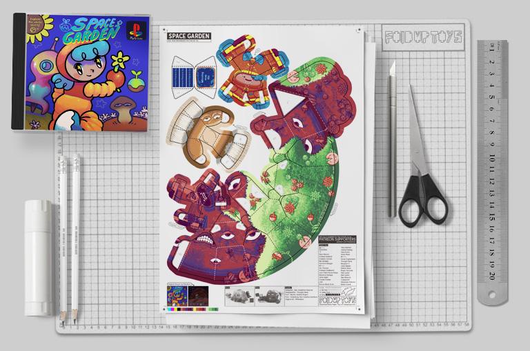 MU - Space Garden Plastiboo Fan Art - Horror Monster Fold Up Toy - Mockup
