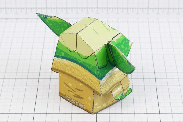 PTI - Baby Yoda Star Wars Mandalorian Paper Toy Photo - Back