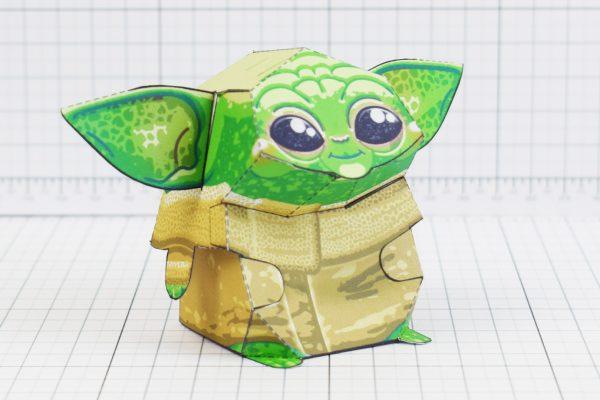 PTI - Baby Yoda Star Wars Mandalorian Paper Toy Photo - Chin
