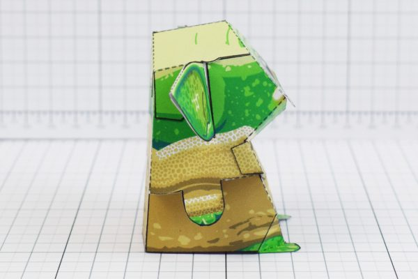 PTI - Baby Yoda Star Wars Mandalorian Paper Toy Photo - Side