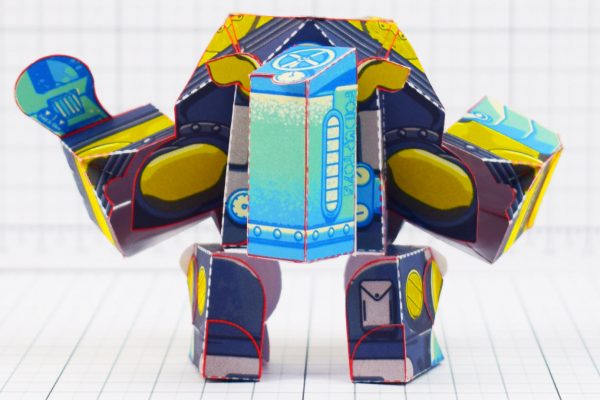 PTI - Diver Dog Paper Toy - Back