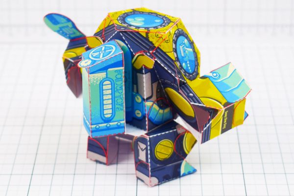 PTI - Diver Dog Paper Toy - Tank