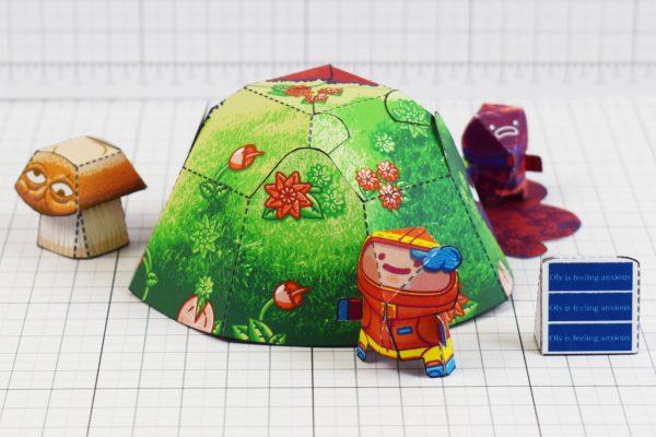 PTI - Space Garden Plastiboo Fan Art - Horror Monster Fold Up Toy - Grass