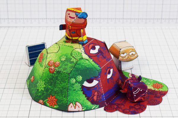 PTI - Space Garden Plastiboo Fan Art - Horror Monster Fold Up Toy - Hill