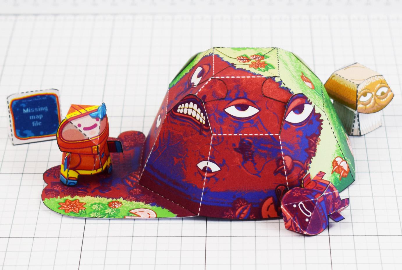 PTI - Space Garden Plastiboo Fan Art - Horror Monster Fold Up Toy - Monster