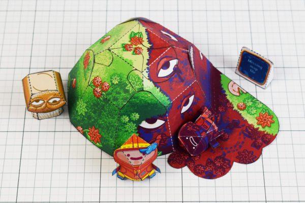 PTI - Space Garden Plastiboo Fan Art - Horror Monster Fold Up Toy - Top