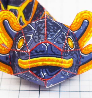 PTI - Lava Lizard Monster Dragon Paper Toy Craft Mondel - Fold Up Toys 2020 - Face