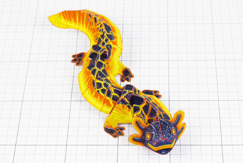 PTI - Lava Lizard Monster Dragon Paper Toy Craft Mondel - Fold Up Toys 2020 - Main