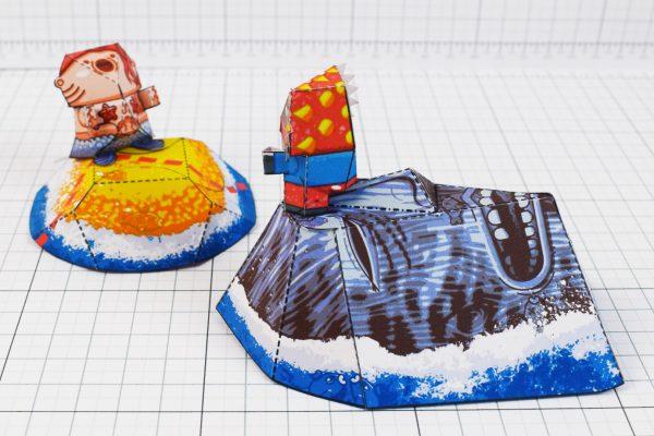PTI - Plastibbo Popu Pirate Paper toys - Distance