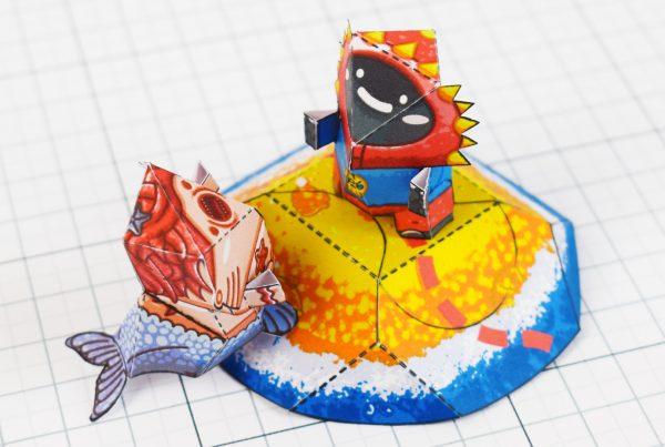 PTI - Plastibbo Popu Pirate Paper toys - Island