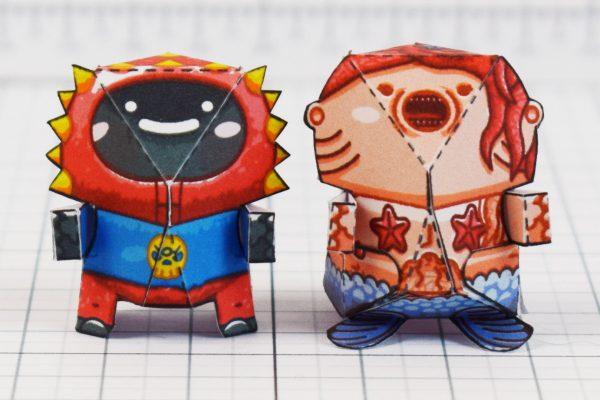PTI - Plastibbo Popu Pirate Paper toys - Minis