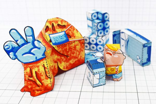 PTI - Covid Creature Paper Toy Playset - Attack