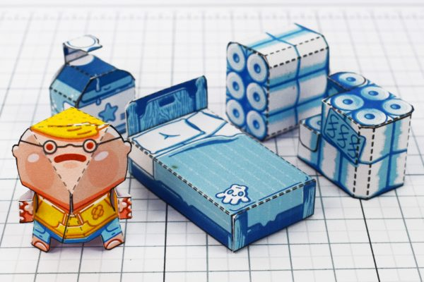 PTI - Covid Creature Paper Toy Playset - Suplies