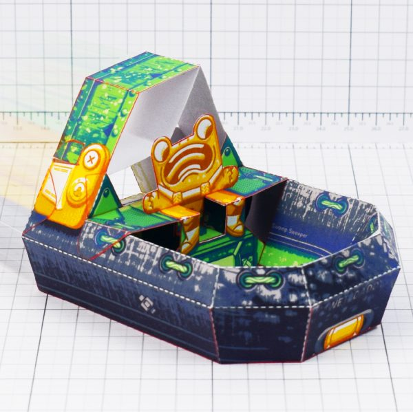 PT-Square- Swamp sweeper hovercraft frog paper toy 1