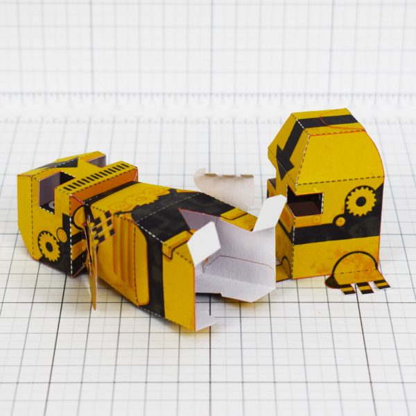 PTI - Clink and Klank Steam Punk Robot Paper Toys Photo - Bottom