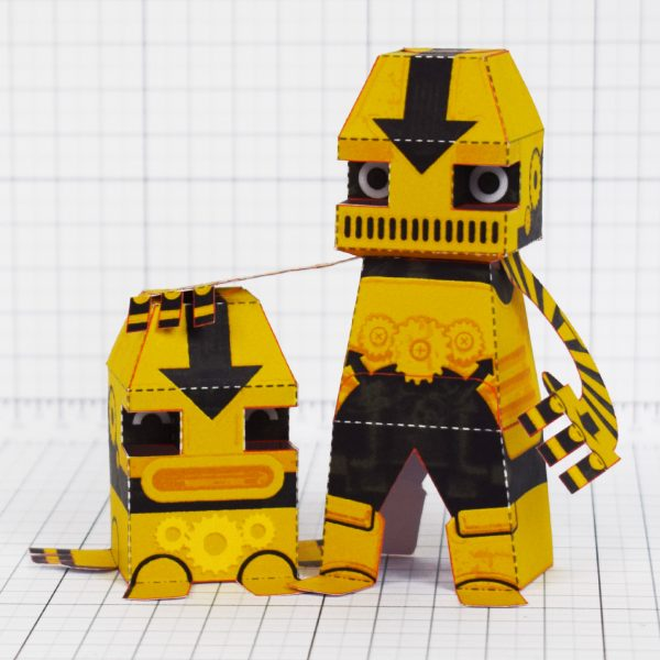 PTI - Clink and Klank Steam Punk Robot Paper Toys Photo - Main