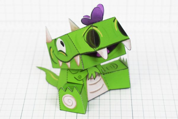 PTI - Cutzilla Luke Glood Paper Toy - Nose x