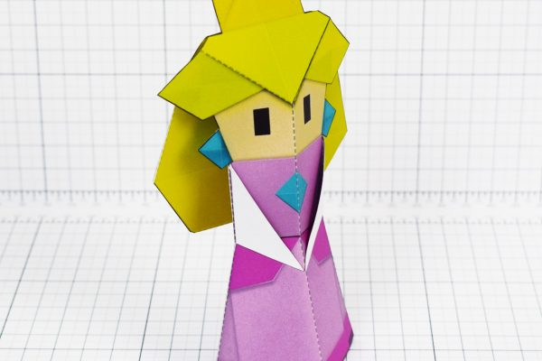 PTI - Pper Mario Origami Peach Fold Up Toy Image - Angle
