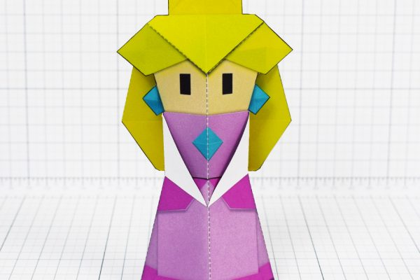 PTI - Pper Mario Origami Peach Fold Up Toy Image - Front