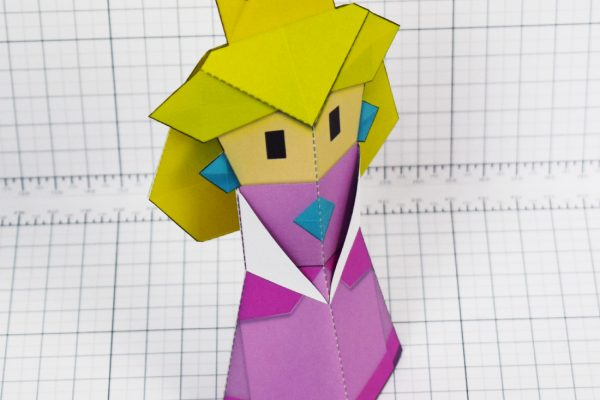 PTI - Pper Mario Origami Peach Fold Up Toy Image - Top