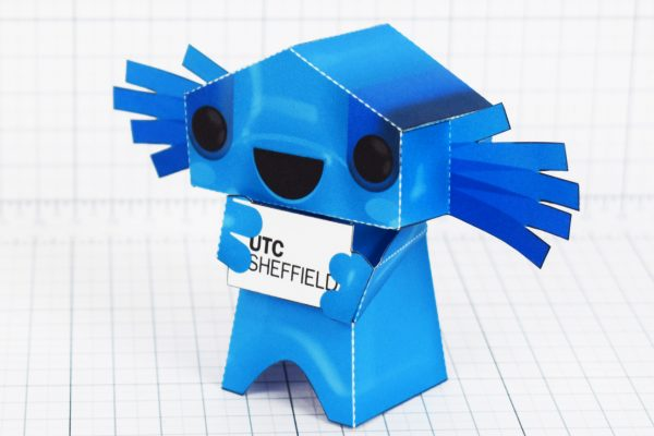PTI- University Technical Collage UTC mascot paper toy Sheffield - Edge