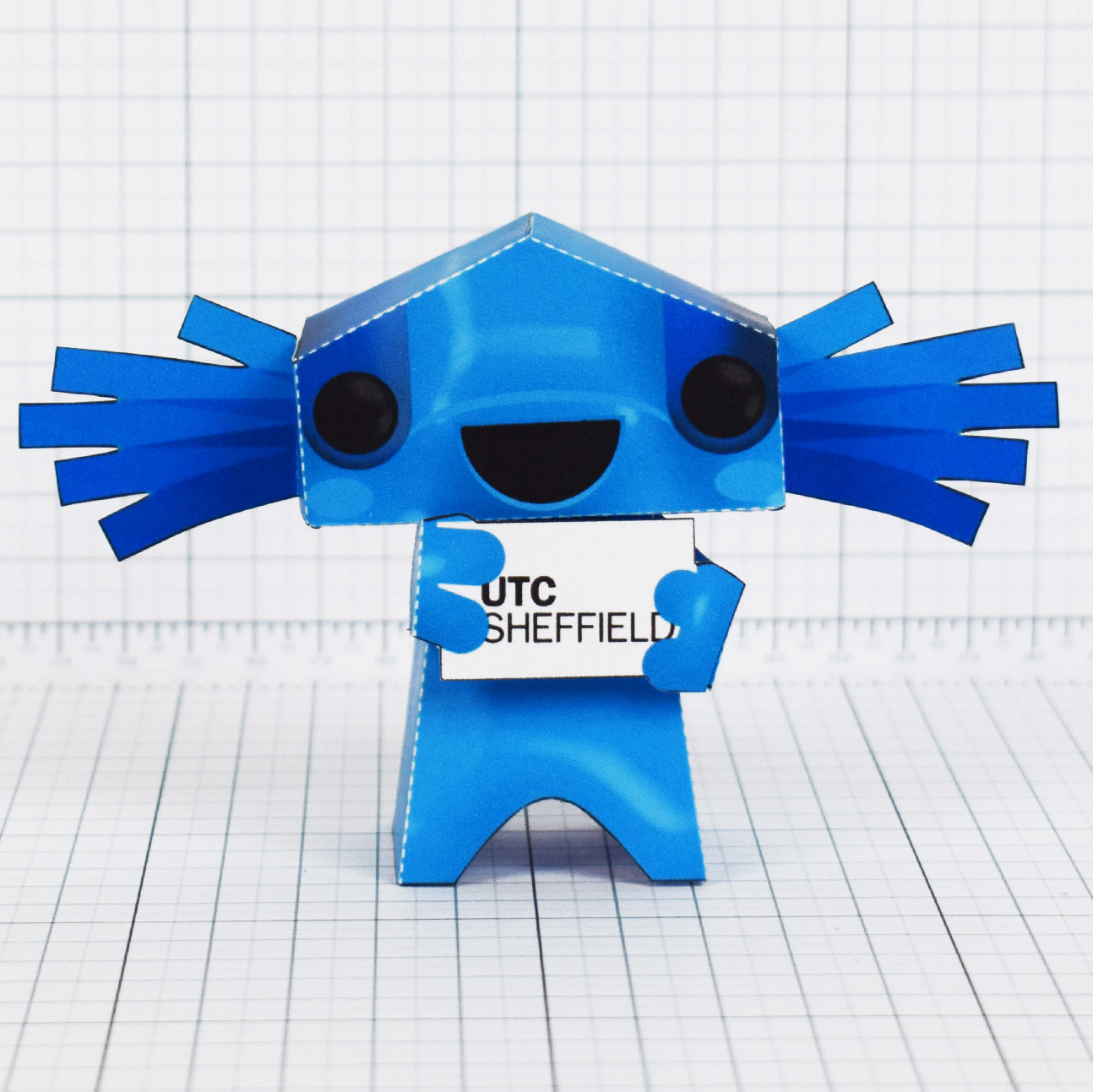 PTI- University Technical Collage UTC mascot paper toy Sheffield - Main