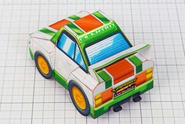 PTI - VHR Cilantro Paper Toy Car Racer Game - Back