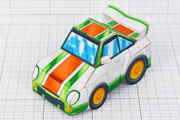 PTI - VHR Cilantro Paper Toy Car Racer Game - Front High